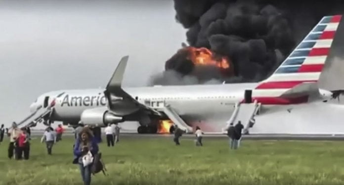 American Airlines on Fire