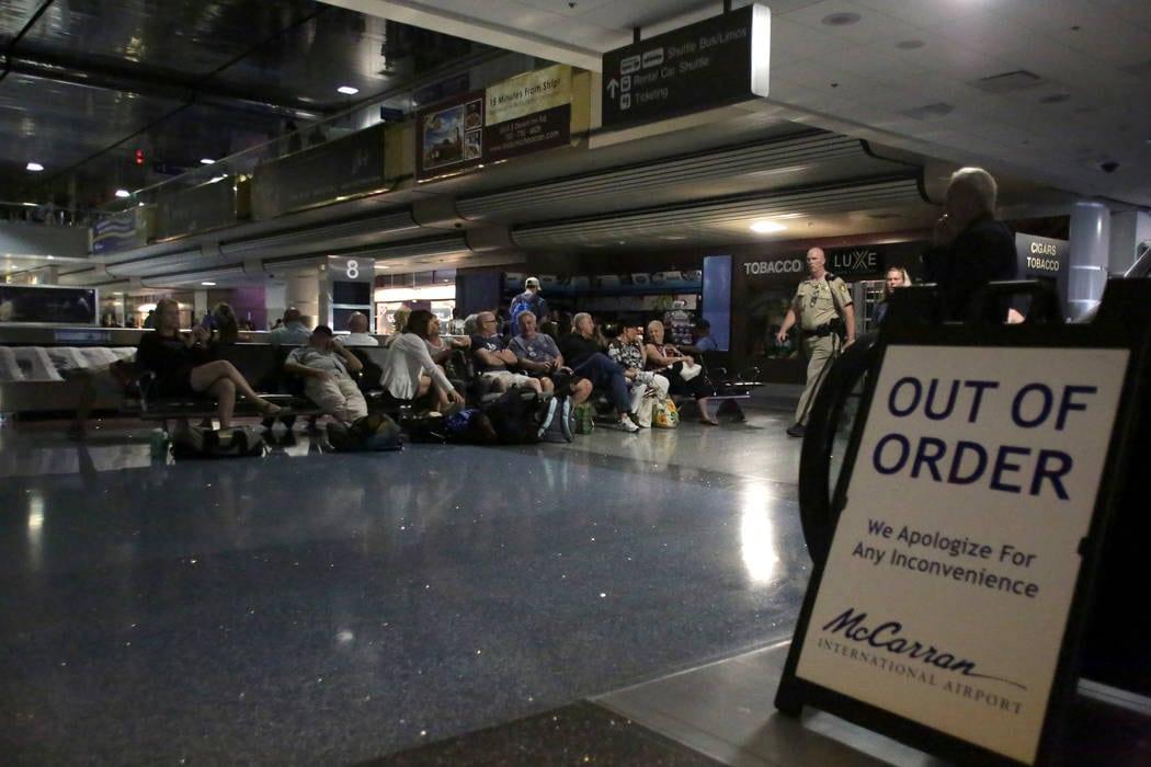 Las Vegas McCarren Airport terminal plunged into darkness