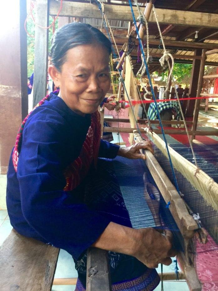 Mekong Tourism Forum - A village weaver in Nakhon Phanom