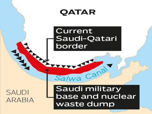 "Saudia Arabia and a canal will turn ""Terror State Qatar"" into an island"