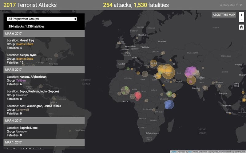 Terror attacks double around the globe since the emergence of Islamic State
