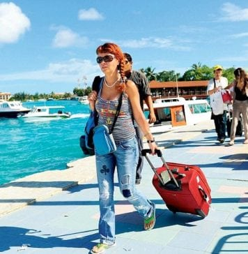 Foreign visitors are flocking to the Maldives
