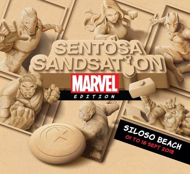 Singapore's Sentosa welcomes giant sand sculptures of Iron Man, Thor, Captain America