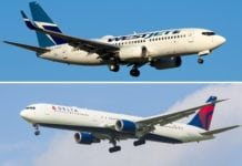 Delta Air Lines and WestJet