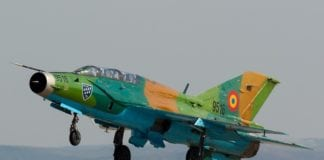 Romanian MiG-21 jet