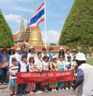 Chinese tourists in Thailand - Photo copyright Andrew J. Wood