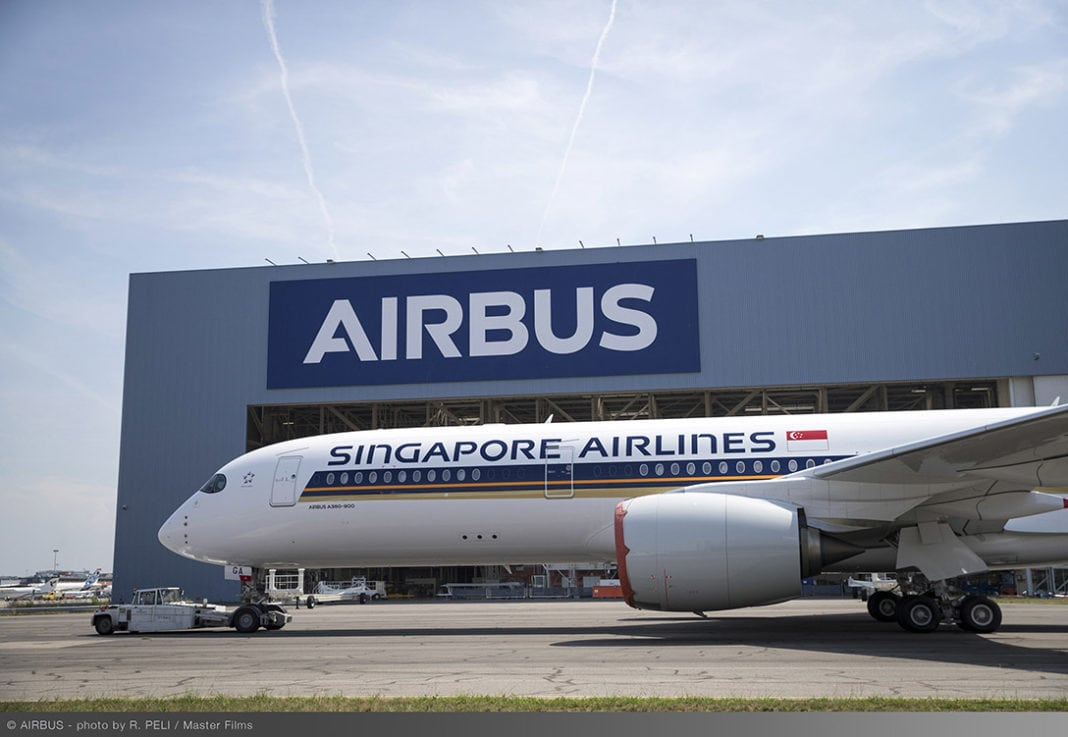 sq s first ultra long range airbus a350 xwb to be delivered travel