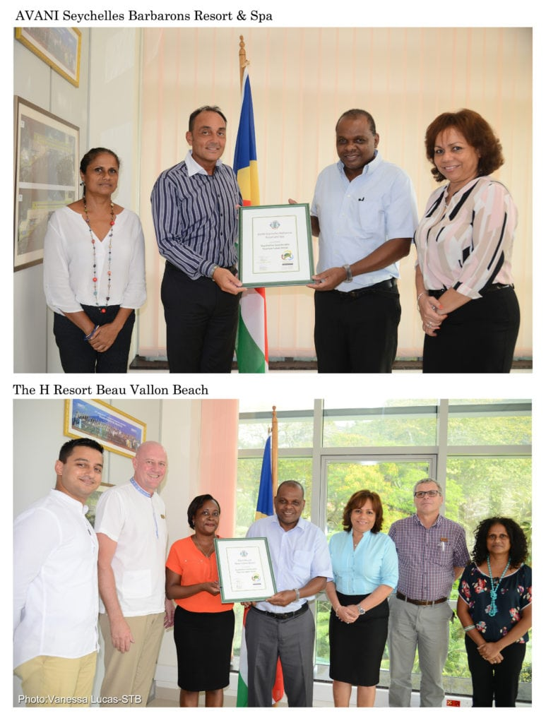 Eco labels awarded to Avani Seychelles Barbarons Resort & Spa and The H Resort Vallon Beach
