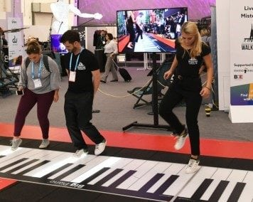 IMEX America - The Walking Piano in the Live Zone at IMEX in Frankfurt