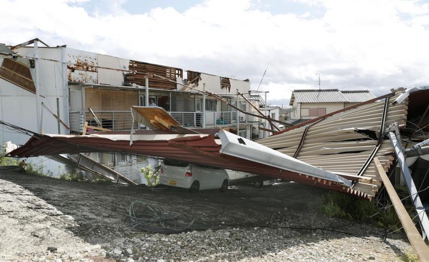 Potential devastating Typhoon in Japan now weakened