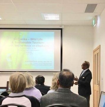 eTN Sri Lanka ambassador delivers a talk at the Sri Lankan Embassy in Canberra