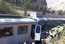 Train crash in Machu Picchu