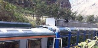 Train crash in Machu Picchu
