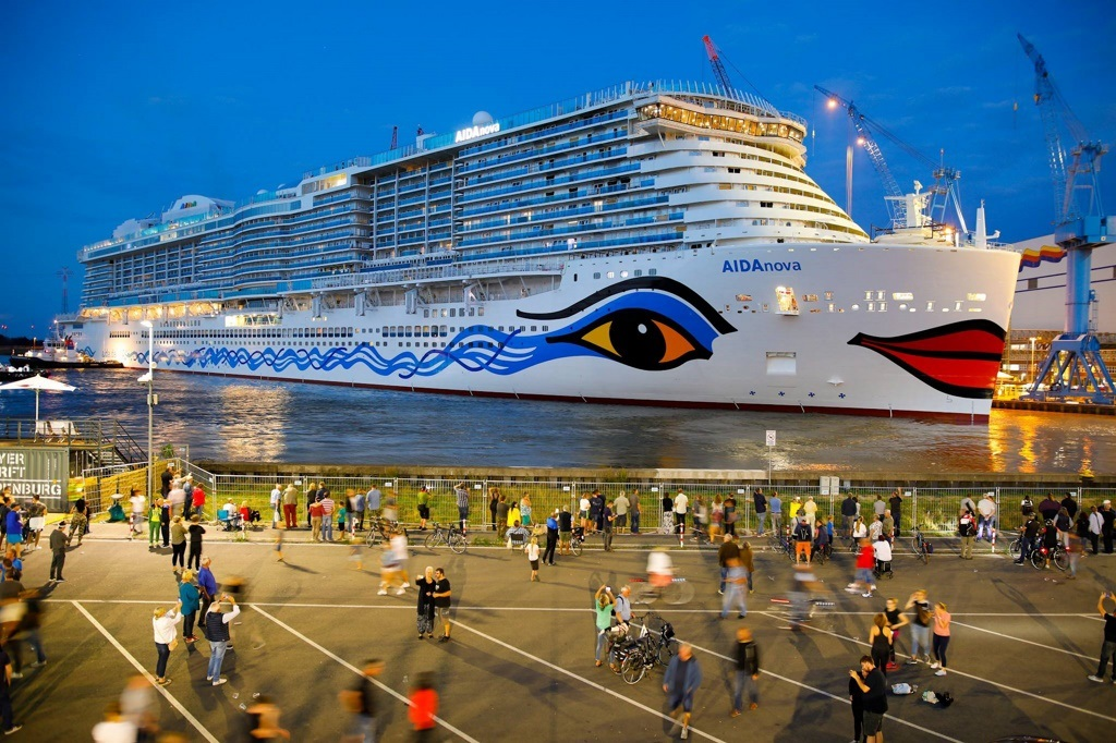 First LNG-powered cruise ship floated at Meyer shipyard in Papenburg, Germany