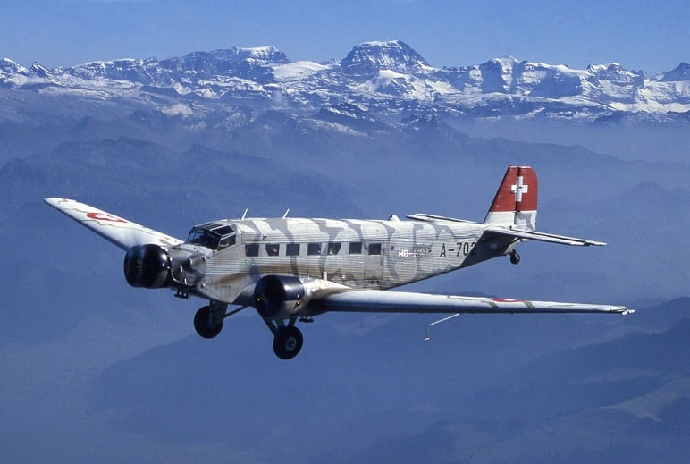 WWII-era German plane crashes in Swiss Alps killing all 20