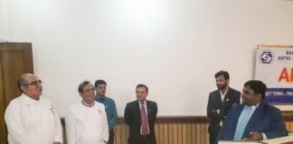 Dr. Bhupesh and eminent chefs at alumni meeting in New Delhi