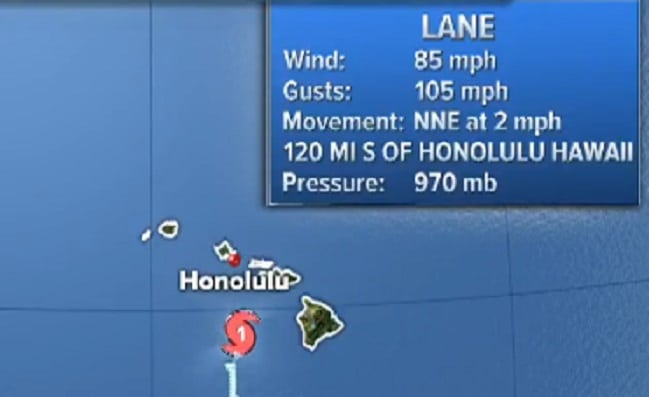 Hurricane Lane finally takes a jog but in the wrong direction