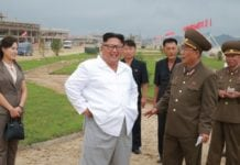 North Korea Supreme Leader during inspection
