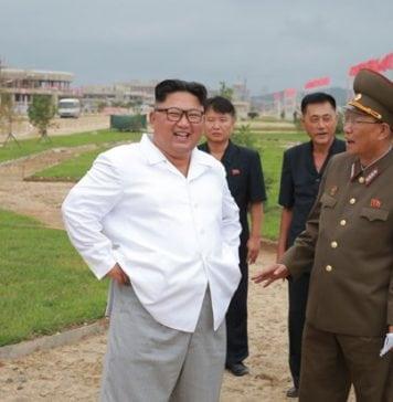 North Korea Supreme Leader during inspection