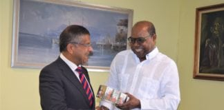 His Excellency Asif Anwar Ahmad & the Hon. Edmund Bartlett of Jamaica