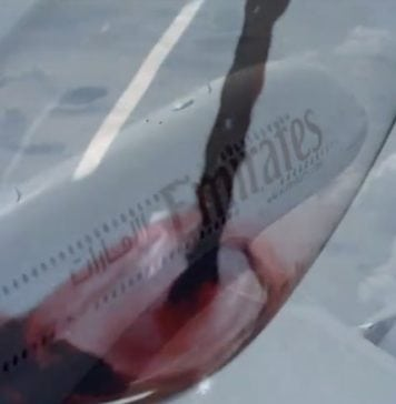 Emirates wine on the way to Dubai