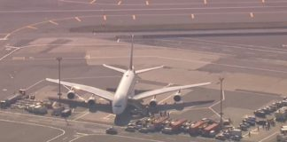 Emirates A380 quarantined at JFK Airport with 100 sick passengers on board