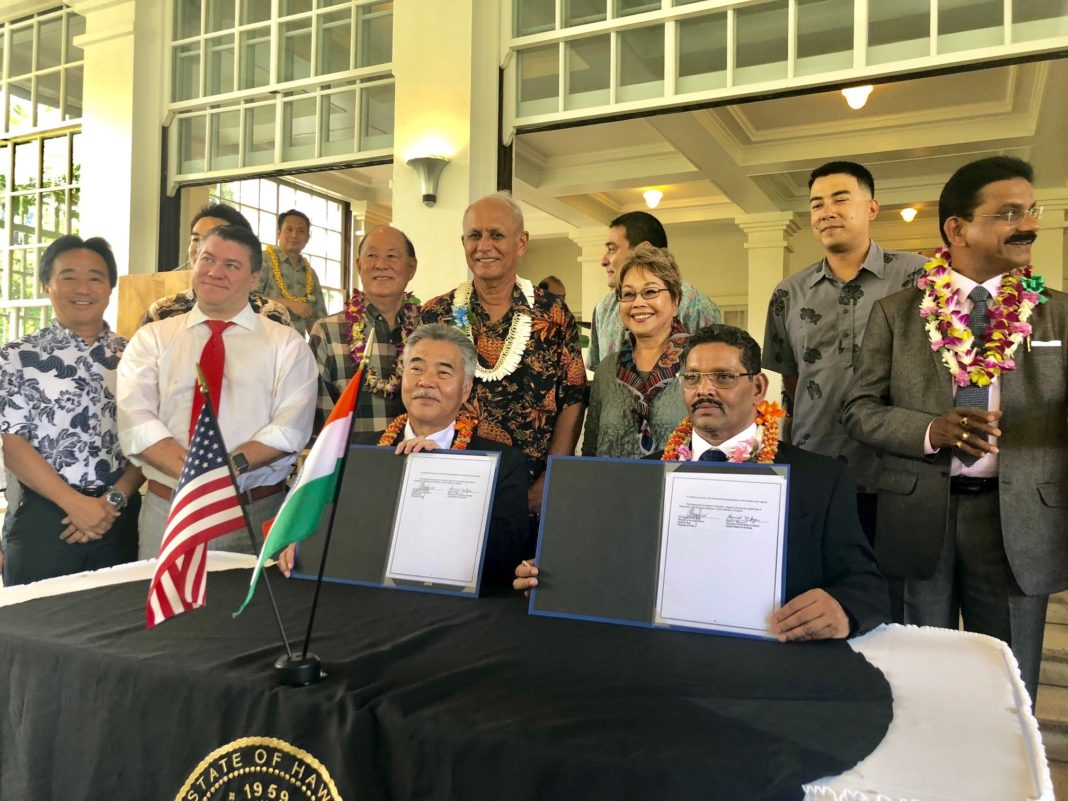 Hawaii and Goa India sign sister-state agreement