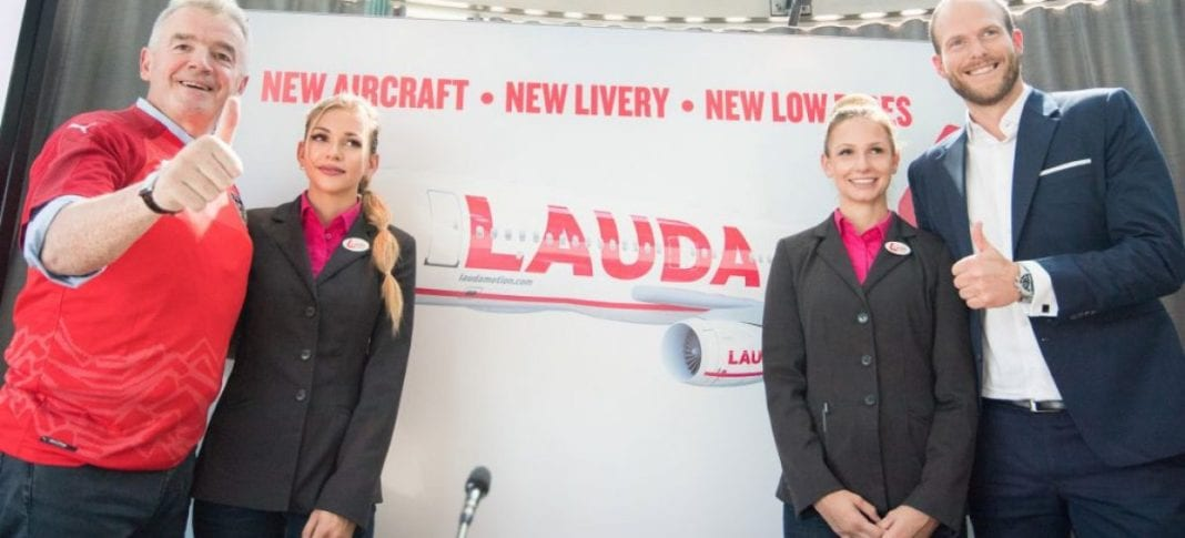 "Laudamotion, Laudamotion – Ryanair: ""Doubled fleet"", Buzz travel 