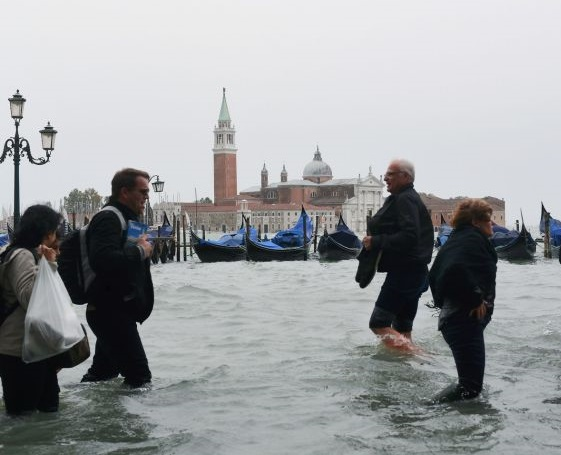 Three-quarters of Venice is under water in worst flooding since 2008