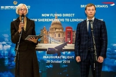 Sheremetyevo Airport welcomes direct service from London Heathrow to Moscow