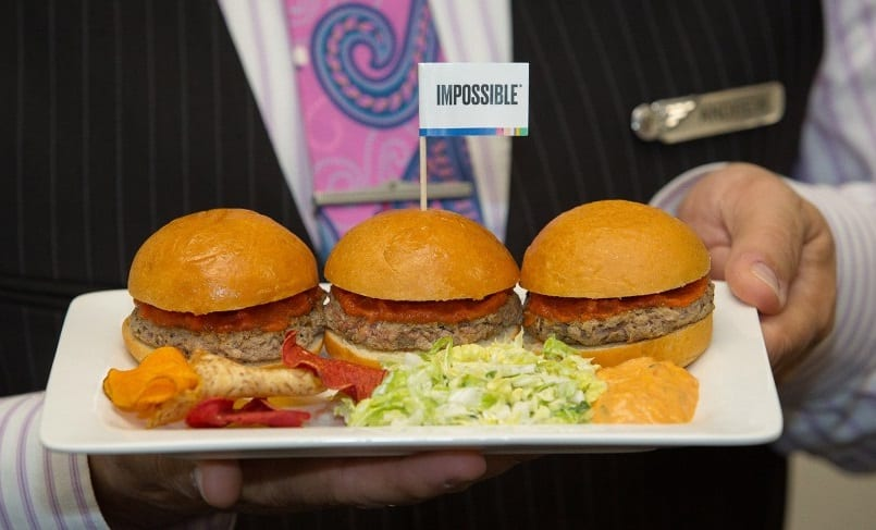 Air New Zealand launches Impossible Burger sliders