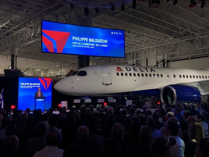 delta air lines takes delivery of first airbus a220 in north america