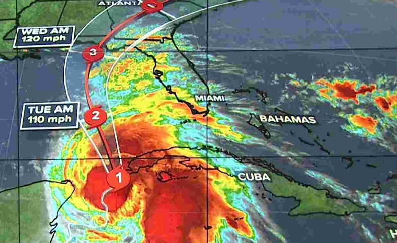 Hurricane Michael picking up power as it heads for Florida Panhandle