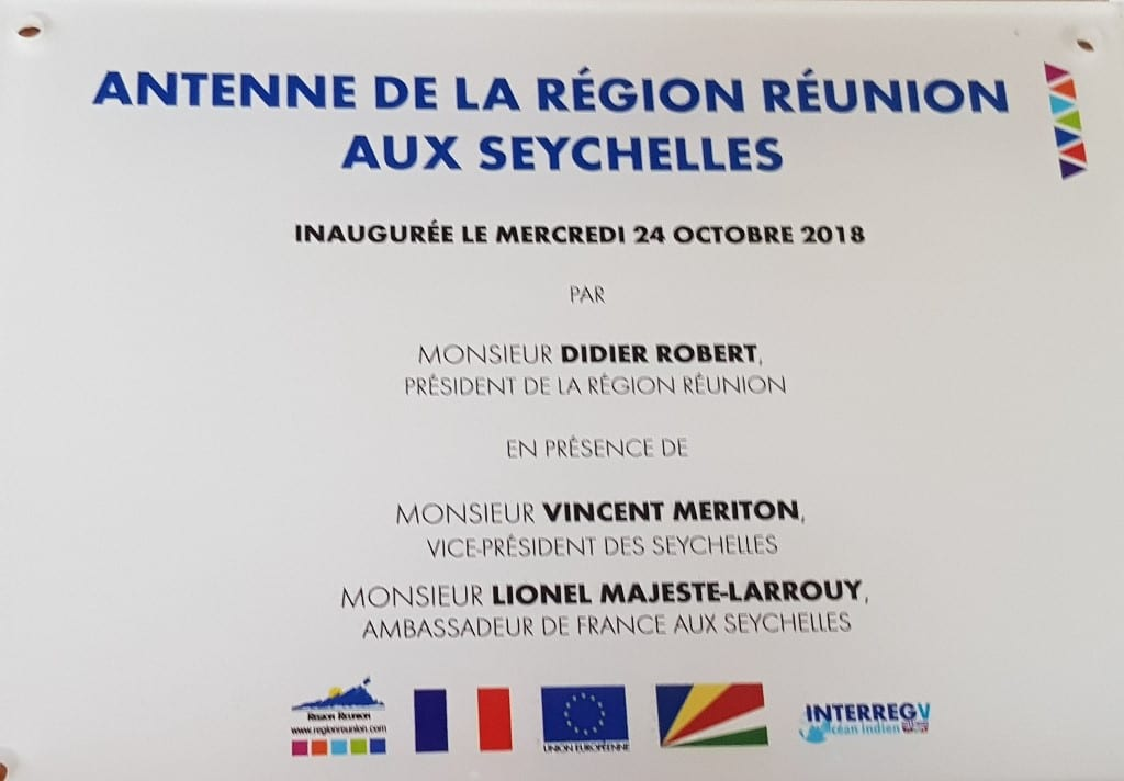 Reunion opened economic office in Seychelles