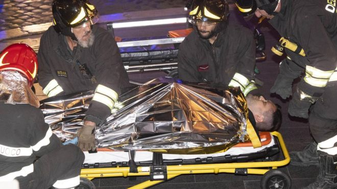 Escalator at Rome Subway Station out of control injuring 20 Russian Sports Tourists