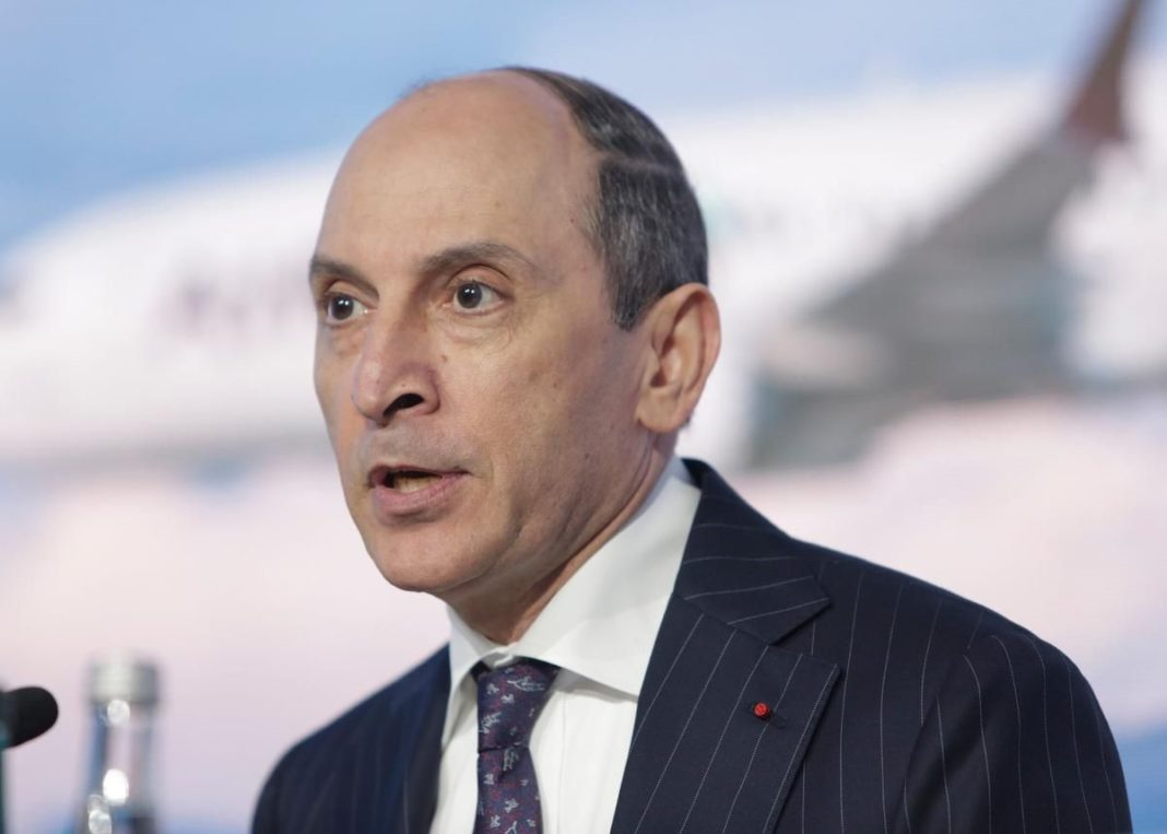 Qatar Airways chief speaks at IATA Wings of Change conference in Madrid