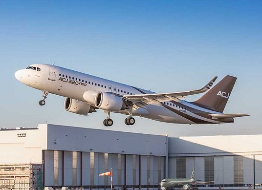 Airbus ACJ320neo takes to the skies for the first time