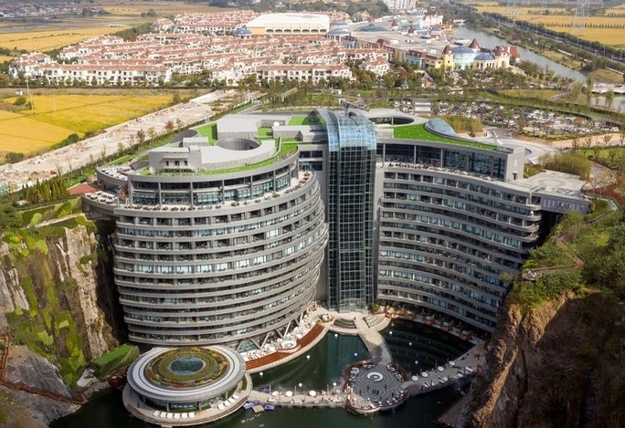 First 'earthscraper' hotel opens in Shanghai's abandoned quarry