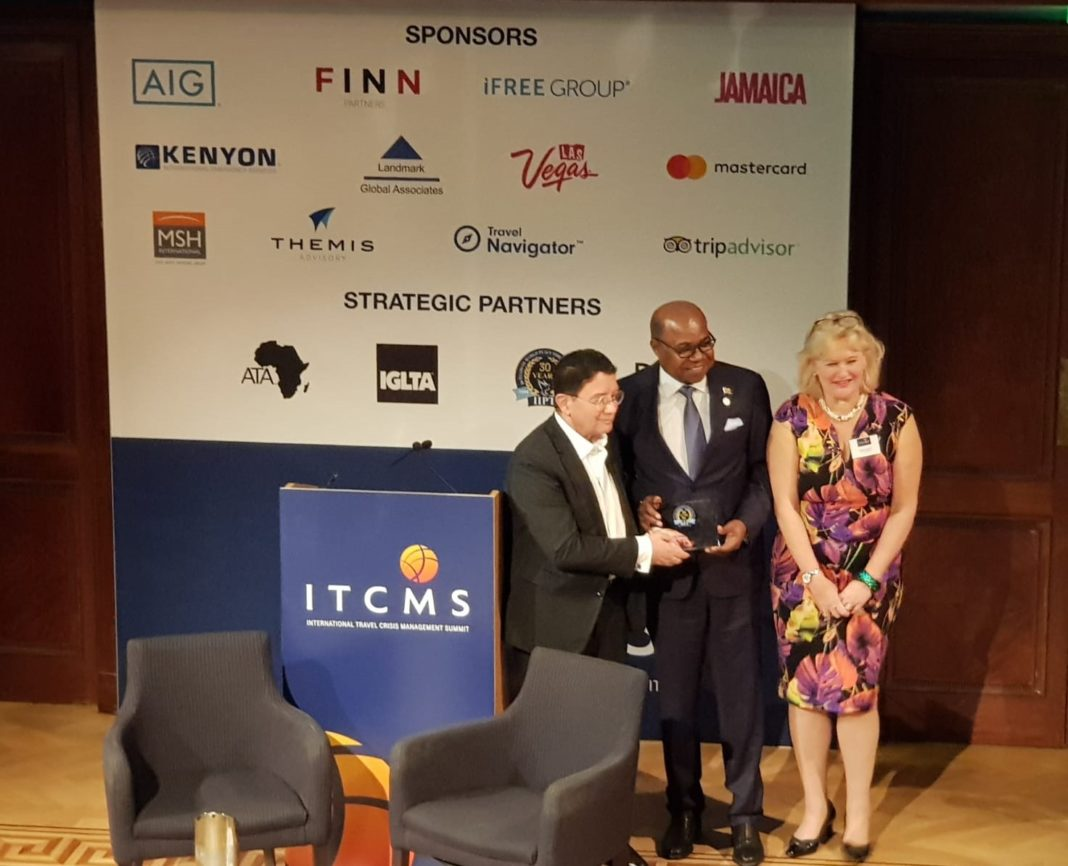 Minister of Tourism wins International Institute for Peace through Tourism Champions in Challenge Award