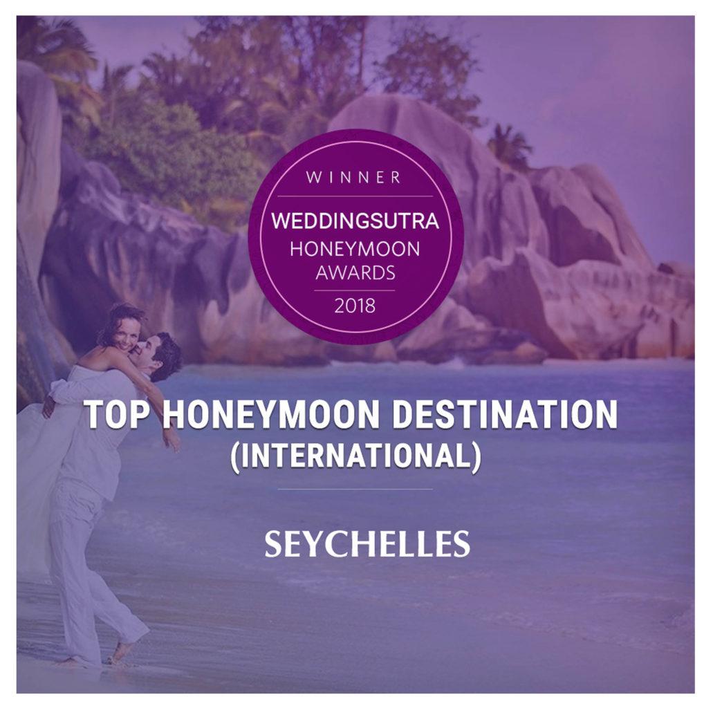 Seychelles recognized at WeddingSutra Honeymoon Award 2018