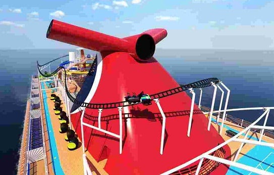 Carnival to launch first cruise ship with roller coaster on board