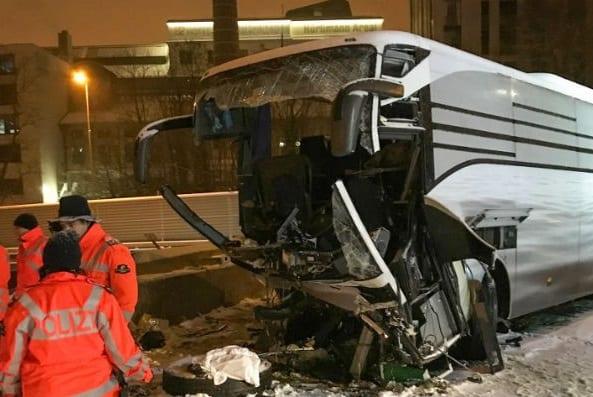 One passenger killed, 44 injured in Zurich tour bus crash