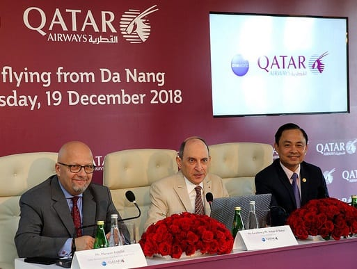 Qatar Airways celebrate the launch of its third Vietnamese gateway
