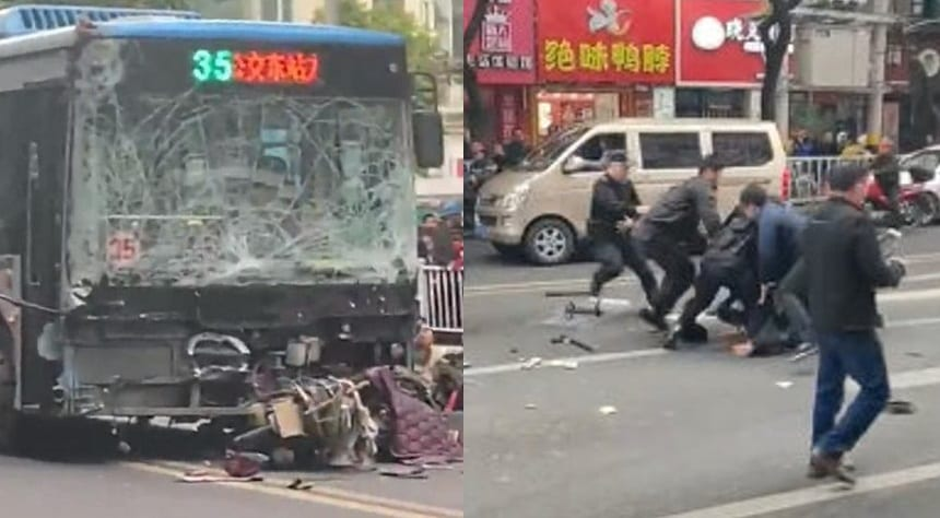 8 killed, 22 injured: Hijacked bus plows into crowd in Longyan, China