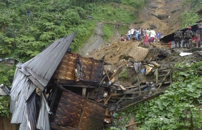 Deadly landslides kill at least five people in Philippines