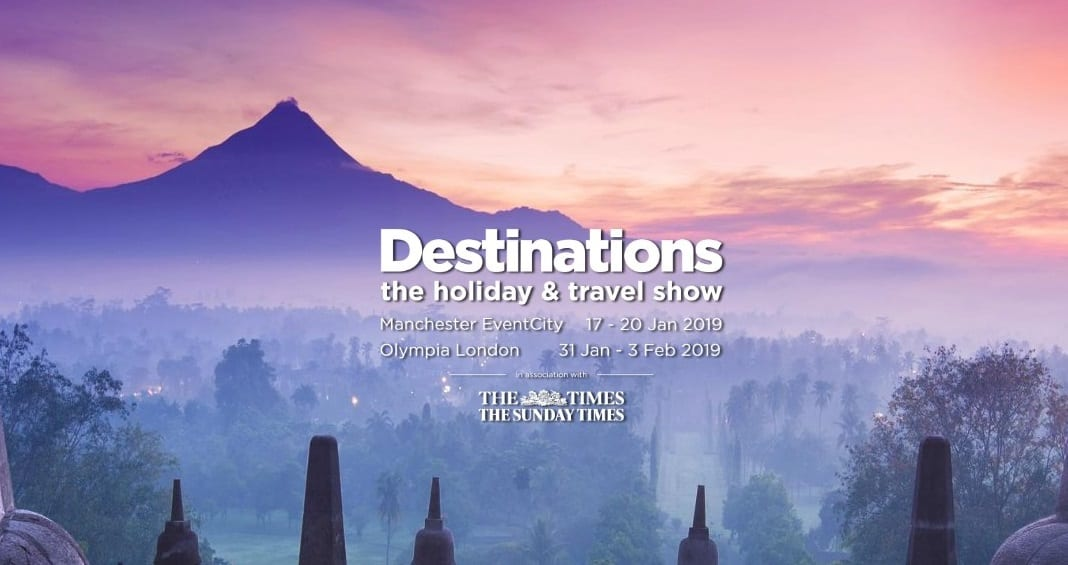 Destinations: The Holiday & Travel Show offers free entry for travel