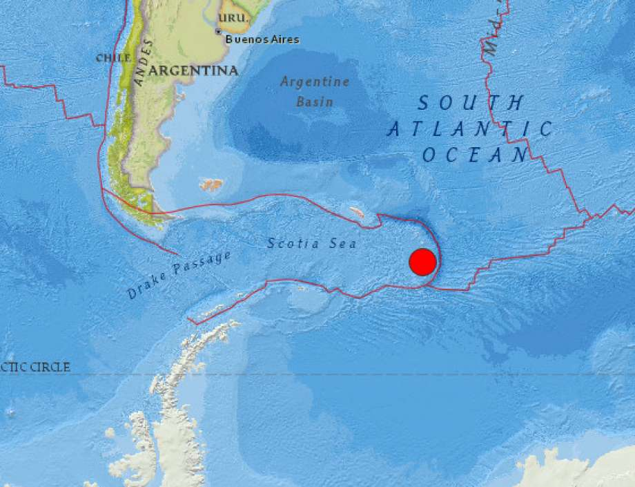 Magnitude 7.1 earthquake strikes close to South Sandwich Islands
