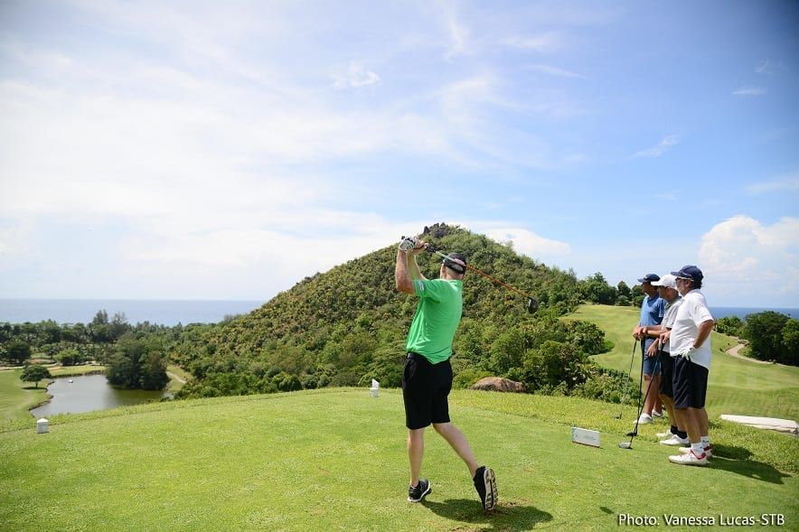 Constance Lemuria welcomes celebrity golf players for first MCB-Staysure Tournament in Seychelles