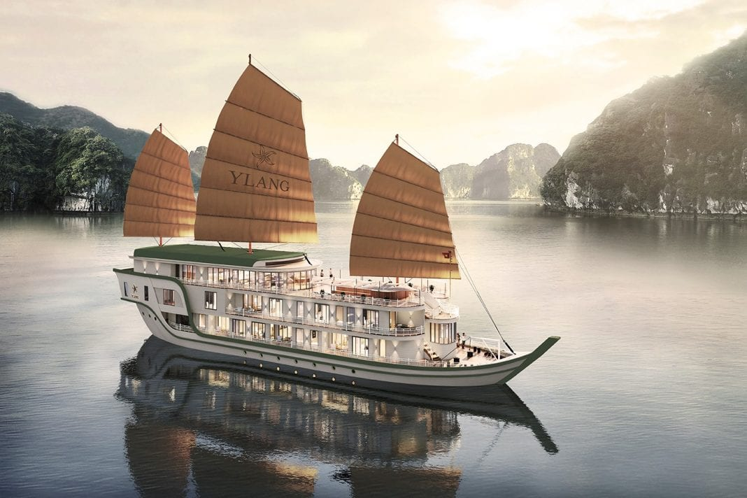 New luxury vessel waiting for tourists in Lan Ha Bay