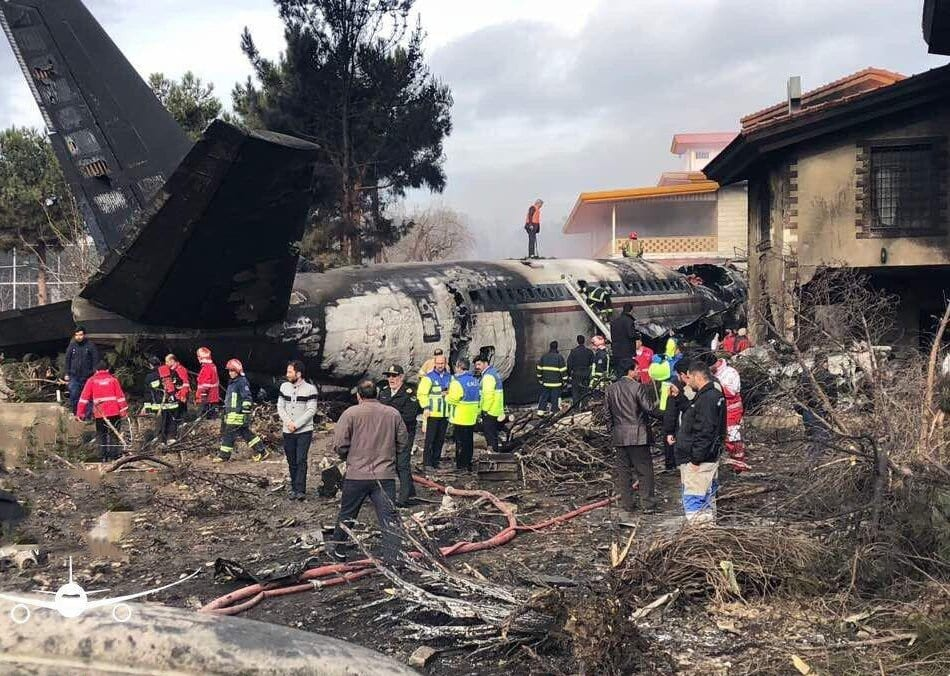 15 killed as Boeing 707 jet crashes into residential neighborhood in Iran